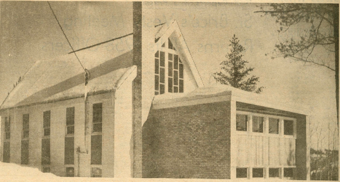 All Saints' Anglican Church building from the side, 1959
